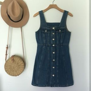 button down denim dress from American Eagle